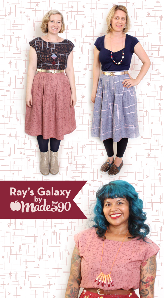 RAYS GALAXY TOPS SKIRTS
